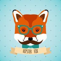 Dierlijk hipsterportret vector