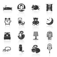 slaap tijd pictogrammen vector