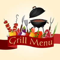 BBQ grill achtergrond vector