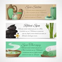 Spa horizontale banners vector