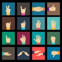 Handen pictogrammen instellen vector