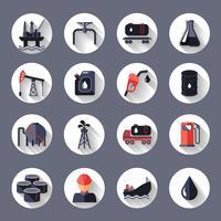 Olie-industrie pictogrammen instellen