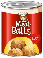 Vleesballetjes in aluminium blik vector