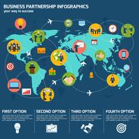 Zakelijke partnerschap infographics vector