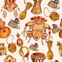 Afrika schets gekleurde naadloze patroon