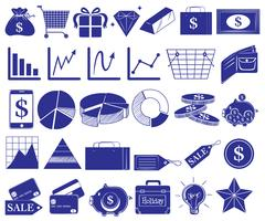Doodle ontwerp van een verkooprapport vector