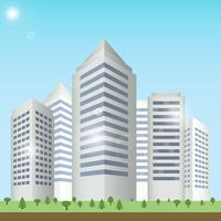 Moderne gebouwen stadsgezicht vector