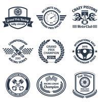 Racing emblemen zwart