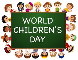Posterontwerp voor de dag van wereldkinderen