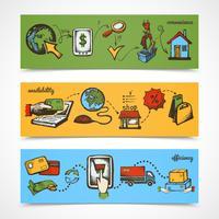 Internet winkelen schets banner