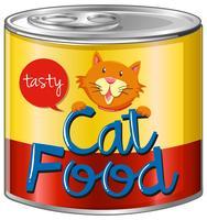 Kattenvoer in aluminium blik vector