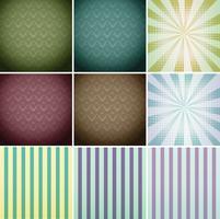 Verschillende ontwerp van wallpapers vector