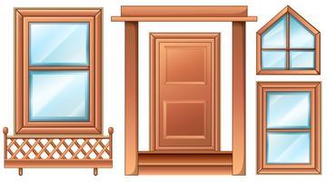 Verschillende deurontwerpen vector