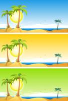 Zomer tropisch strand instellen vector