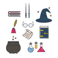 Wizard pictogrammen Vector