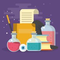 platte tovenaarsschool essentials vector