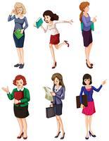 Verschillende zakenvrouwen vector