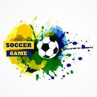voetbal plons vector