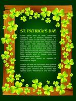het ontwerp van de dag van heilige Patrick vector