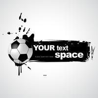 grunge voetbal vector