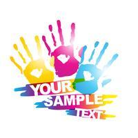 kleurrijke hand vector