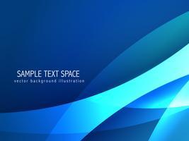 creatieve blauwe golf achtergrond illustratie vector
