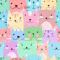 Kat, kat - schattig, grappig patroon.