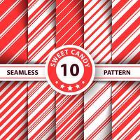Gestreepte zoete lijn Merry Christmas-patroon. vector