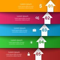 Abstracte 3D digitale afbeelding Infographic.
