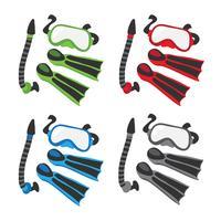 snorkel vector collectie ontwerp