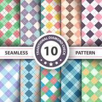 Naadloos argyle geruite blauw patroon. Diamond check - idee voor uw print.