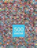 Reeks kleurrijke avatars van karakters vector
