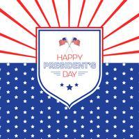 Happy President's Day ontwerp achtergrond met kopie ruimte