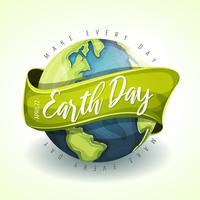 Happy Earth Day vakantie Banner
