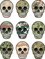 legerembleem met schedel vector
