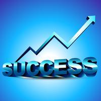 abstract 3d succesontwerp vector