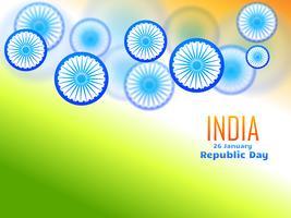 ontwerp van de republiekdag gemaakt met wiel