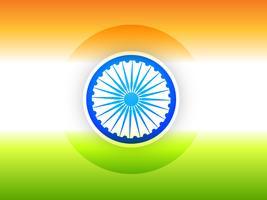 Indiase vlag ontwerp illustratie