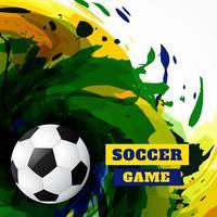 Grunge voetbal ontwerp vector