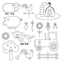 Landbouwhuisdieren Digitale stempels Clipart
