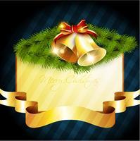 glanzende vrolijke kerstbel vector