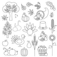 Thanksgiving digitale postzegels Clipart