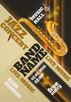 Jazz concertaffiche vector