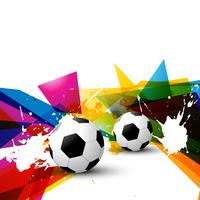 vector kleurrijke voetbal