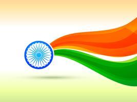 Indisch vlagontwerp dat in golfstijl wordt gemaakt vector