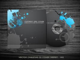 abstract cd-omslagontwerp vector