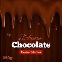 Donkere chocolade achtergrondafdruk vector