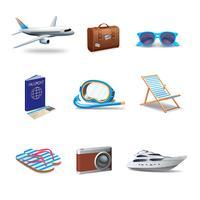Reizen Icons Set vector