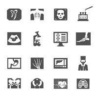Echografie en X-ray pictogrammen