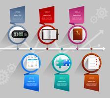 tijd management infographics vector